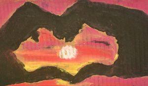 Sunset Heart - LOVE Art Wonders (NickysArt)