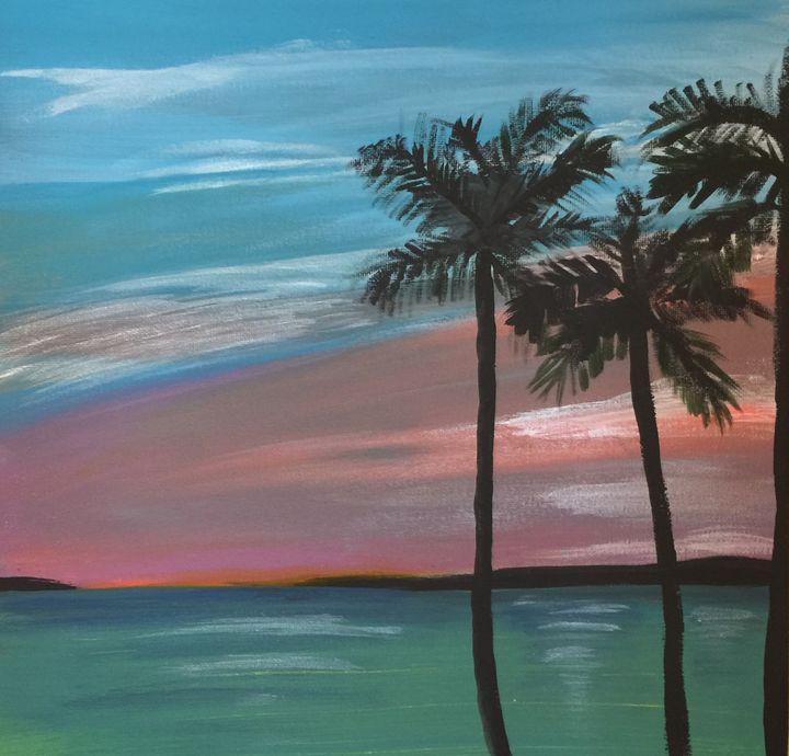 Palms in sunset - Adriana Jensen