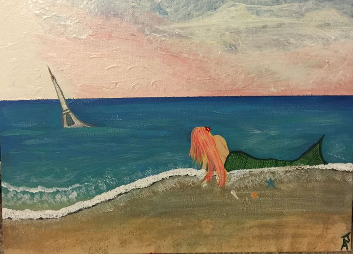 Mermaids on the beach - Adriana Jensen