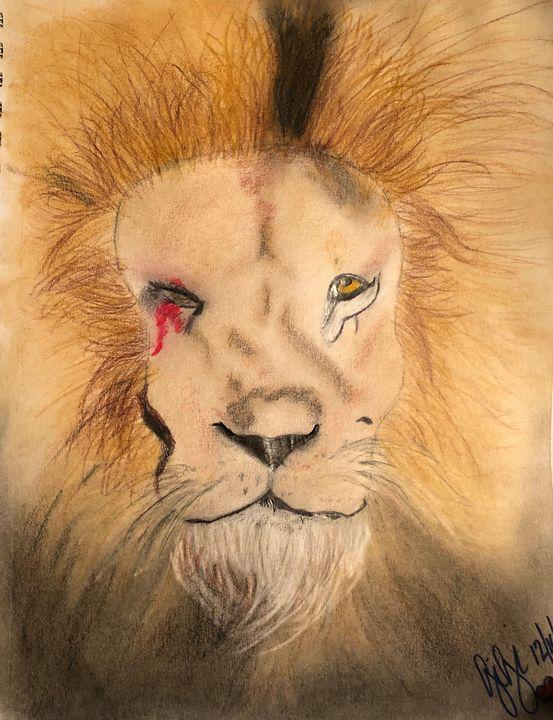 "Injured Lion - Kim ""Gigi"" Murray"