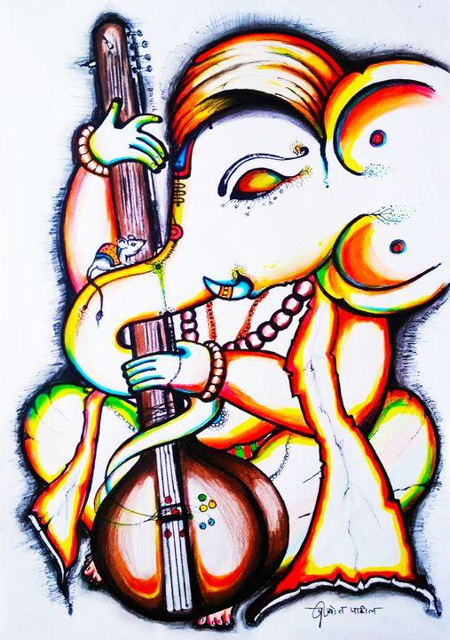 लंबोदर - Prajyot Patil Art