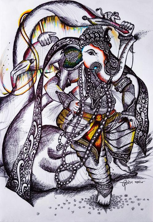 गणाधीश - Prajyot Patil Art