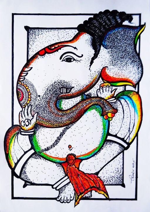 वक्रतुण्ड - Prajyot Patil Art