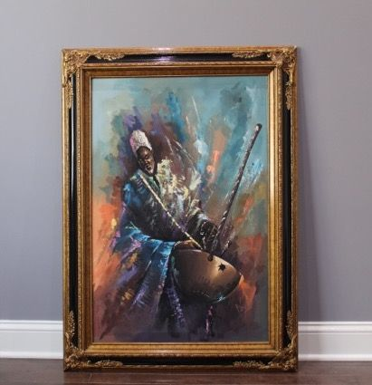West African man playing the Kora - Sikander's gallery