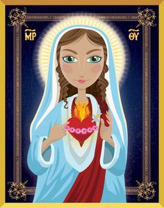 Blessed Mother idon by Tim Read