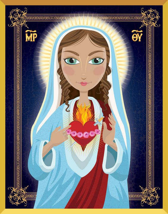 Blessed Mother idon by Tim Read - 5 Fingers Creative