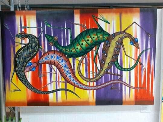 Geckos - New Guinea Art