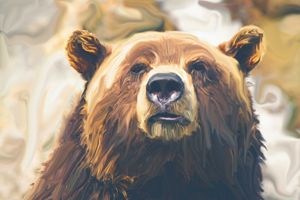 Big Brown Bear - Jabeen's Art