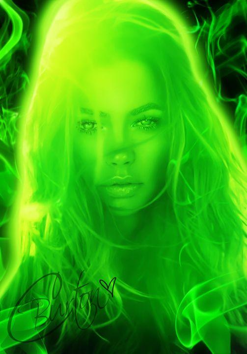 Xbox One: Female in Green Smoke - Christina Art