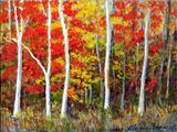 small autumn forest painting