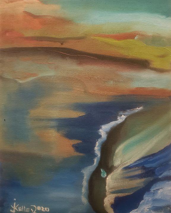 The Pacific ocean watching Californi - modernartistjosh_kelleyart