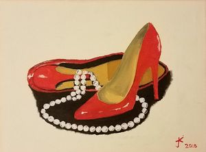 High heels and pearls