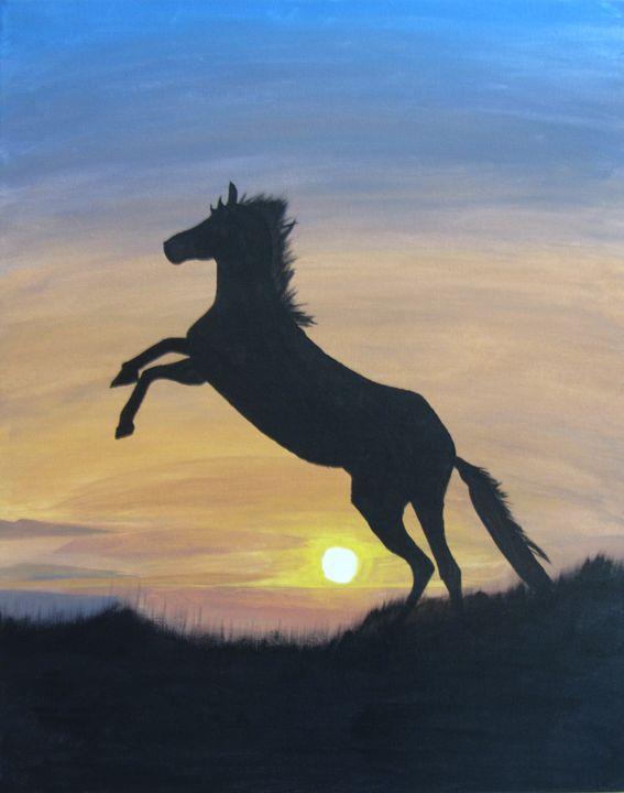 Standing Horse Awaiting Sunrise - Jianning Meng
