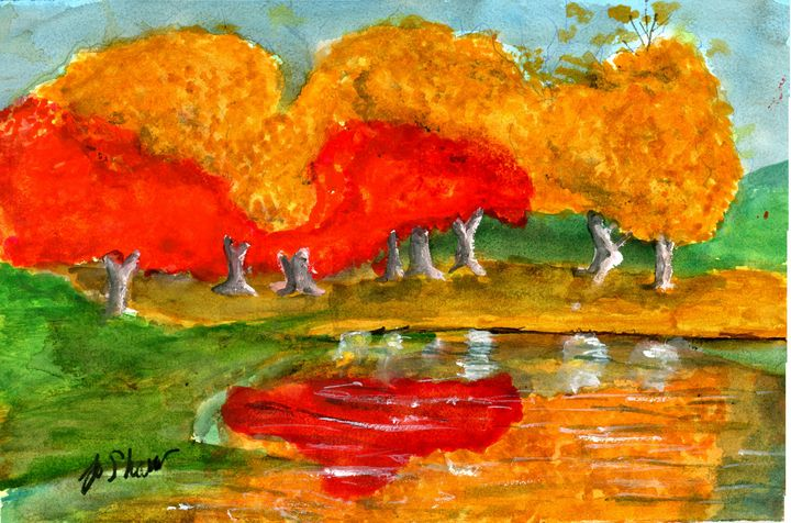 OCTOBER MORN - Prints of Original paintings by Jo Shaw