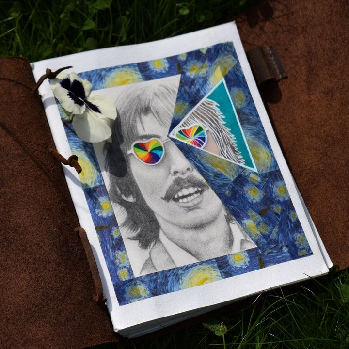 George Harrison - Mixed Media - A5 - ThatHumanNamedJames