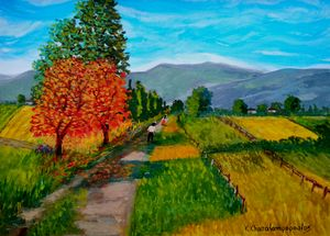 AUTUMN WALK - Art by Konstantinos Charalampopoulos