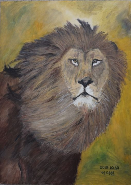 Lion Oil Painting - GalaxySpace