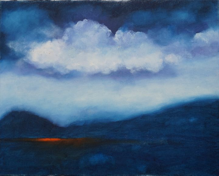 Ocean and Sky Oil Painting - GalaxySpace