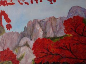 Autumn Colors Oil Painting