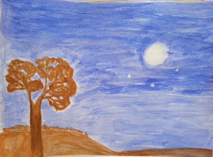 A full moon - Mareena Ajesh