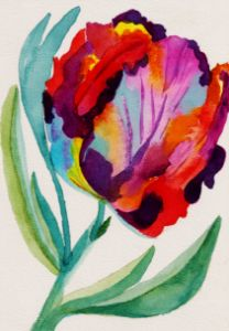 Parrot Tulip - Whimsical Watercolor Paintings