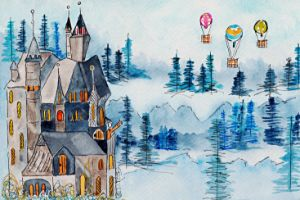 Farewell Young Maiden - Whimsical Watercolor Paintings