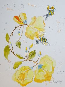 Busy Bees - Whimsical Watercolor Paintings & Photography