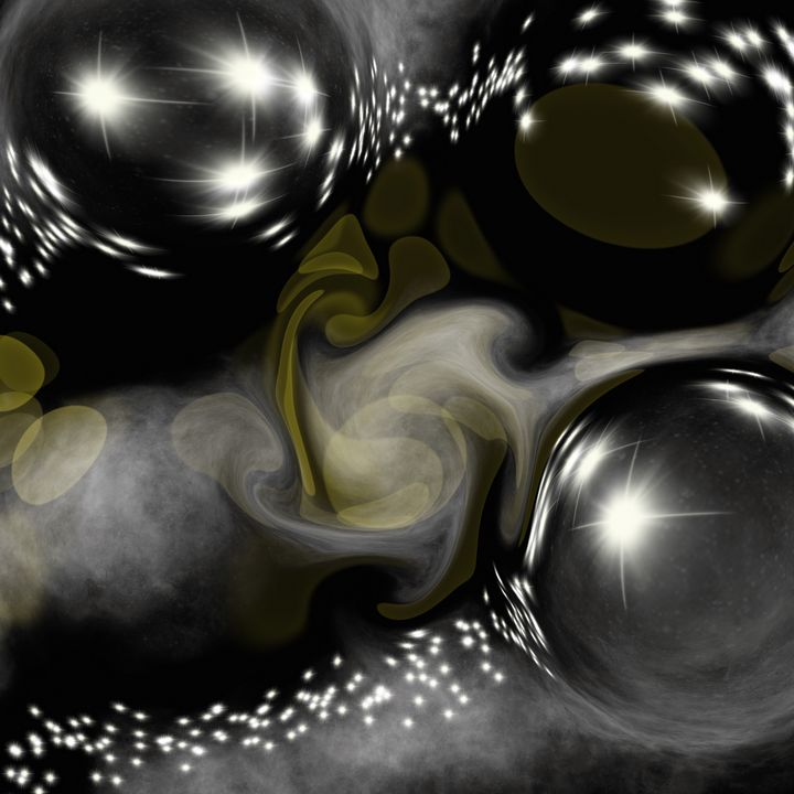 Metallic bubbles - Art by Herum