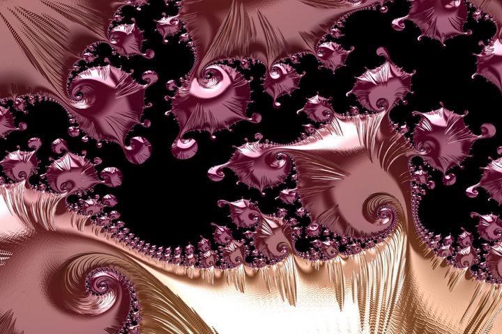 Fluid rose gold fractal - Art by Herum