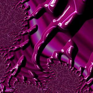 Magenta fractal flower