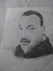 This is a drawing of Martin Luther K
