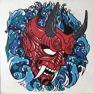 Hannya Wind Demon Mask
