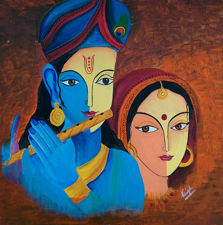 Radhe krishna - shalini's art