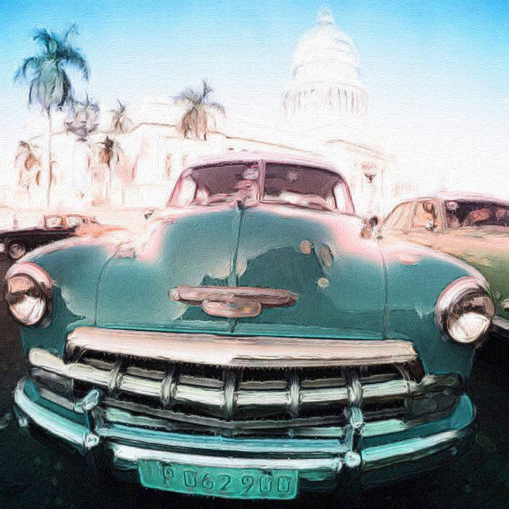 Chevy 1960's Car in Havana Cuba - Empire State Studios NYC
