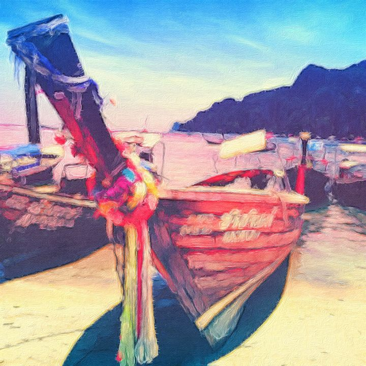 Long Tail Boat in The Phi Phi Island - Empire State Studios NYC