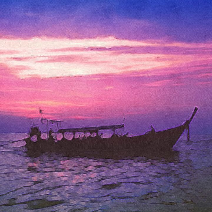 Long Tail Boat in Thailand at Sunset - Empire State Studios NYC