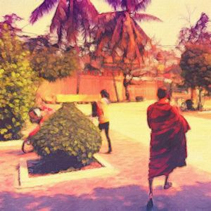 Monks in Cambodia - Empire State Studios NYC