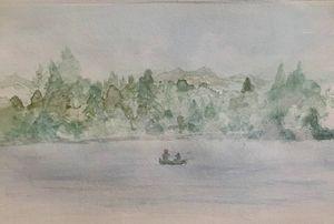 Lifting Mists on Elkhorn Lake