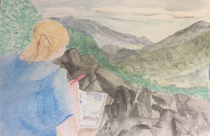Painting at Blackrock Summit - Andy's Art