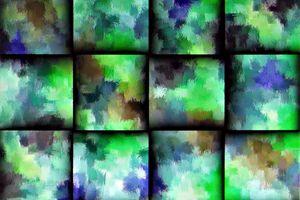 couleurs géométriques tressées