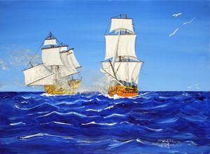 Bataille navale milieu 18eme siecle