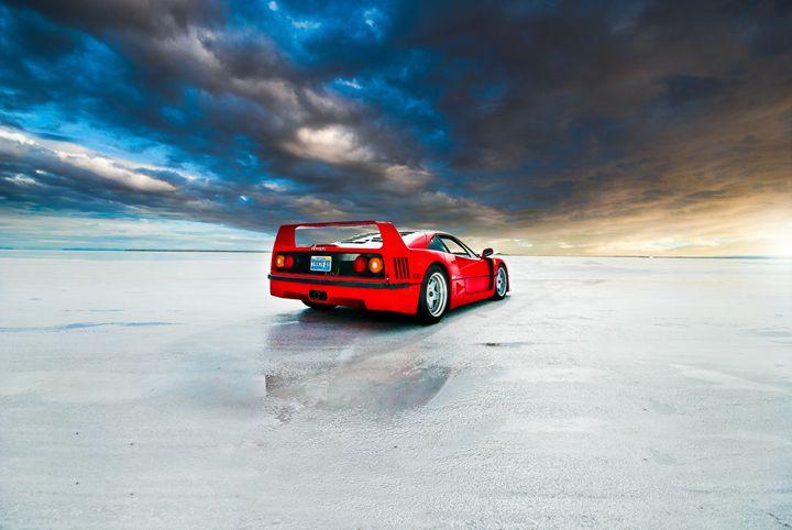 Ferrari F40 | Salt Flats 4 - Folk|Photography