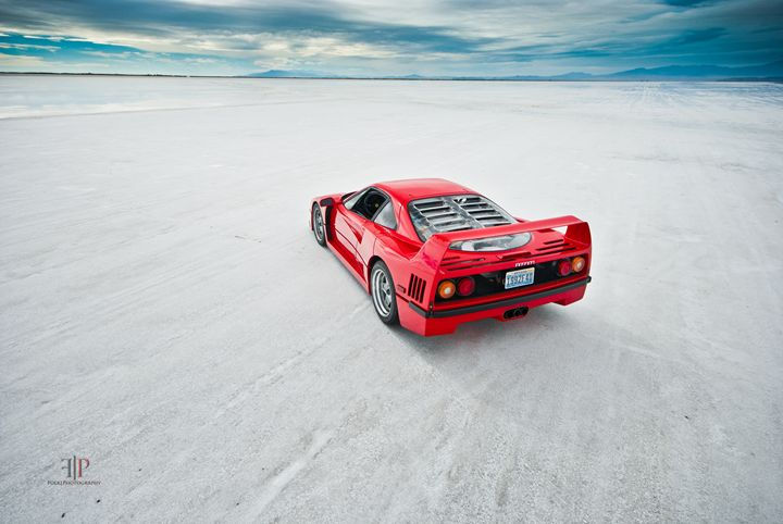 Ferrari F40   Salt Flats 3 - Folk Photography