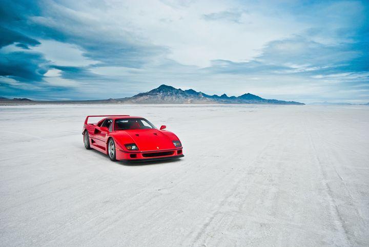 Ferrari F40 | Salt Flats 1 - Folk|Photography