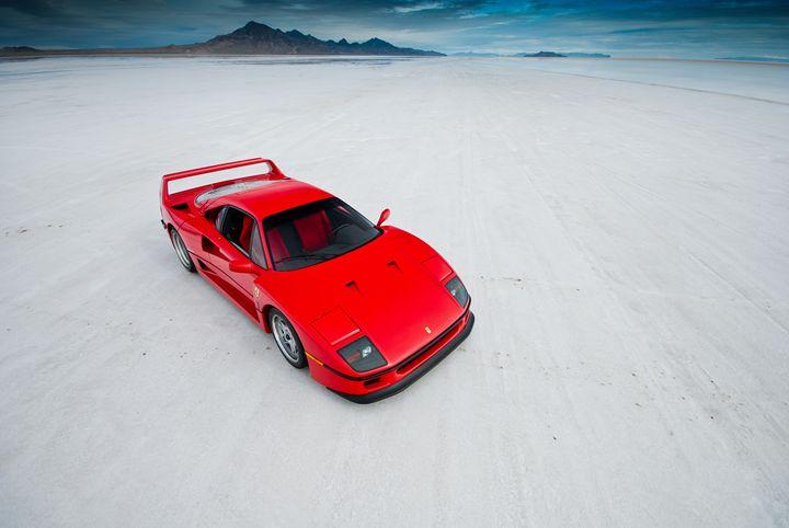 Ferrari F40 | Salt Flats 2 - Folk|Photography