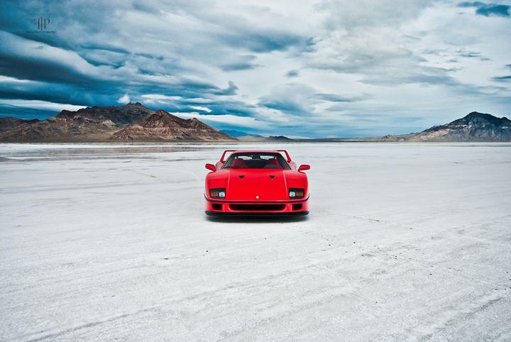 Ferrari F40   Salt Flats 8 - Folk Photography