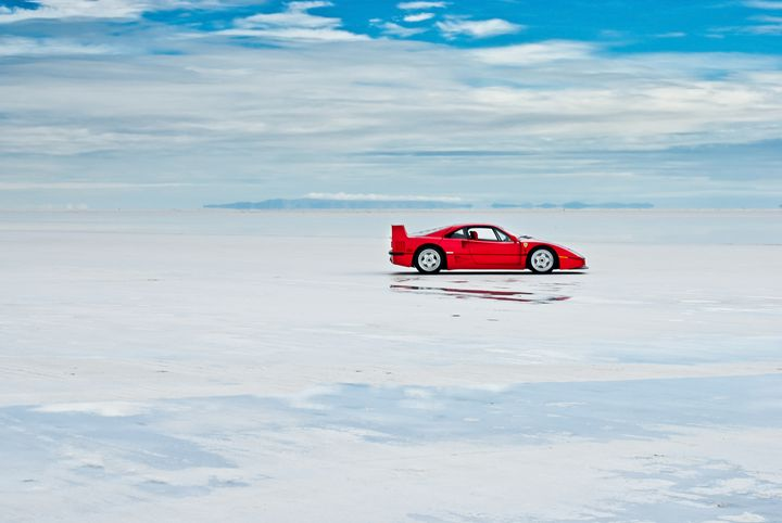 Ferrari F40 | Salt Flats 6 - Folk|Photography