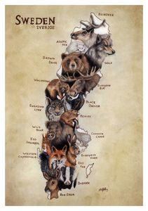 Wildlife Map of Sweden (English) - My Wildlife Map