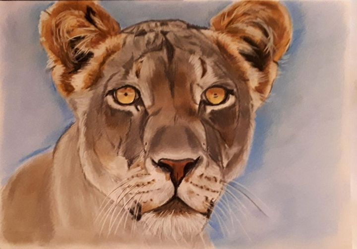 Lioness - SOLD - Pet Portraits for Charity