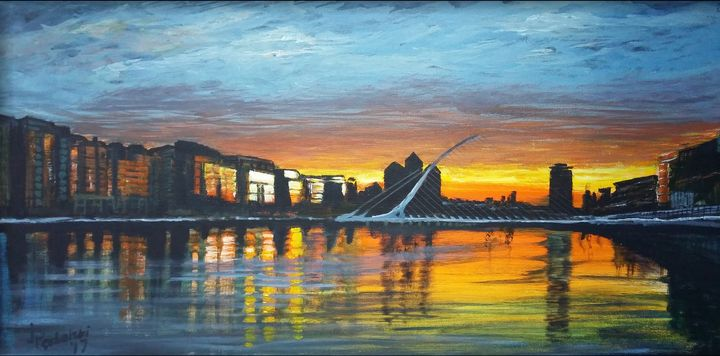 Dublin at sunset - Pęchalski Art